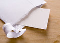 Letter sending opened simple closeup Royalty Free Stock Images