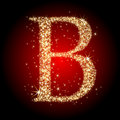 Letter star B Royalty Free Stock Photo