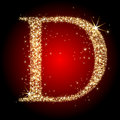 Letter star D Royalty Free Stock Photo