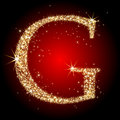 Letter star G Royalty Free Stock Photo