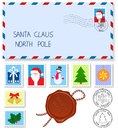 Letter to santa claus Royalty Free Stock Image