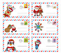 Letter to santa claus envelope send Stock Photo