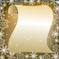 Letter to santa claus fantastic writing frame Royalty Free Stock Image
