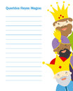 Letter to the three kings of orient Royalty Free Stock Photo