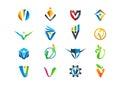 Letter v concept logo design