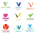 Letter V Logo Royalty Free Stock Photography