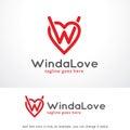 Letter W and Love Logo Template Design Vector, Emblem, Design Concept, Creative Symbol, Icon