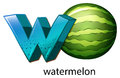 A letter W for watermelon Royalty Free Stock Photo