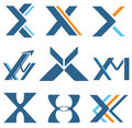 Letter x different designs for and m Royalty Free Stock Images