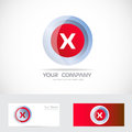 Letter X red logo Royalty Free Stock Photo