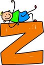 Letter Z boy Stock Photography