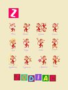 Letter Z. Cute cartoon english alphabet with colorful image and word.