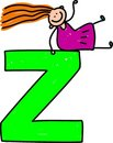 Letter Z girl Stock Photo