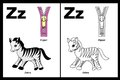 Letter Z worksheet Royalty Free Stock Photo