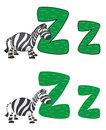 Letter Z zebra Stock Photos