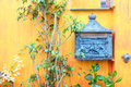 Letterbox outside a house Royalty Free Stock Photo