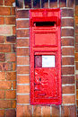 Letterbox rouge britannique traditionnel Photographie stock