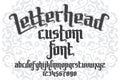 Letterhead custom Font