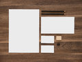 Letterhead, envelope and blank business cards on Royalty Free Stock Photo