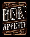 Lettering design of Bon Appetit Royalty Free Stock Photo