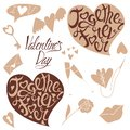 stock image of  Lettering and doodles for Valentine`s Day