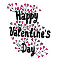 Lettering Happy Valentines Day on the heart frame