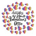 Lettering for happy Valentines day