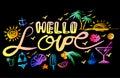 Lettering hello love