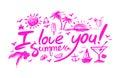 Lettering i love you summer