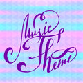 Lettering - Music Theme, abstract background with lettering Royalty Free Stock Photo