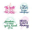 Lettering. positive quotes
