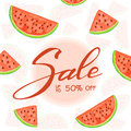 Lettering Sale with watermelon