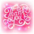 Lettering thank you on a pink backround Stock Image