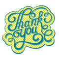 Lettering thank you on retro background Royalty Free Stock Photo