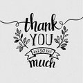 Lettering Thank you. Vector illustration Royalty Free Stock Photo