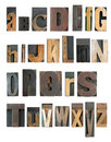 Letterpress alphabet Royalty Free Stock Photography
