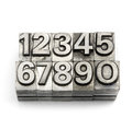 Letterpress - block letter English alphabet and number Royalty Free Stock Photo