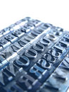 Letterpress Type Royalty Free Stock Image