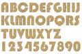 Letterpress uppercase alphabets a to z high quality scan of nice cork board style Stock Photos