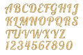 Letterpress uppercase alphabets a to z high quality scan of nice wood style Stock Photo