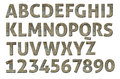 Letterpress uppercase alphabets a to z high quality scan of nice wood style Stock Photos