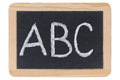 The letters ABC on a blackboard at school Royalty Free Stock Photo