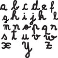 Letters of the alphabet hand drawn Royalty Free Stock Photos