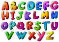 Letters of the alphabet Royalty Free Stock Photo