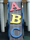 Letters A, B and C Royalty Free Stock Image