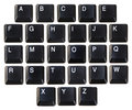 Letters black from a keyboard Royalty Free Stock Photos