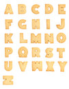 Letters of the british alphabet with white background Royalty Free Stock Photo