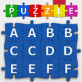 Letters with clipping path puzzle to place concepts in a crossword Royalty Free Stock Image