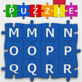 Letters with clipping path puzzle to place concepts in a crossword Stock Photos