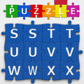 Letters with clipping path puzzle to place concepts in a crossword Stock Image